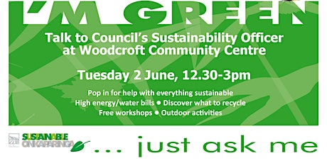 Your Sustainability Questions Answered - Woodcroft Library tickets