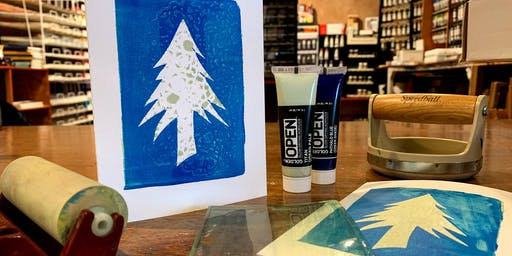 Gel Printed Greeting Cards: The ARTery's Holiday Craft Series