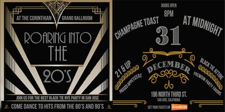 Roaring Into the 20's New Years Eve Party at the Corinthian Grand Ballroom tickets