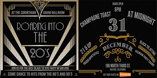 Roaring Into the 20's New Years Eve Party at the Corinthian Grand Ballroom