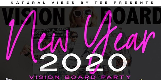 New Year 2020 vision board party