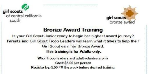 Bronze Award Training (Adults Only) - Visalia
