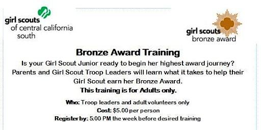 Bronze Award Training (Adults Only) - Fresno