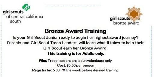 Bronze Award Training (Adults Only) - Hanford