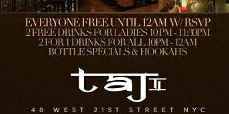 #BestSaturdayParty | TAJ on Saturday  tickets