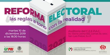 Foro (ejercicio de parlamento abierto) sobre la Reforma Electoral 2019-2021 en San Luis Potosí entradas