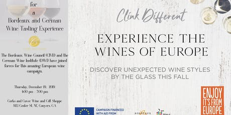 Clink Different Part 2 -  A Bordeaux and German Wine Tasting tickets