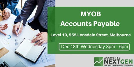 MYOB Accounts Payable  Workshop tickets