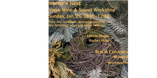 Winter's Nest Workshop  - Yoga, Wine and Sound