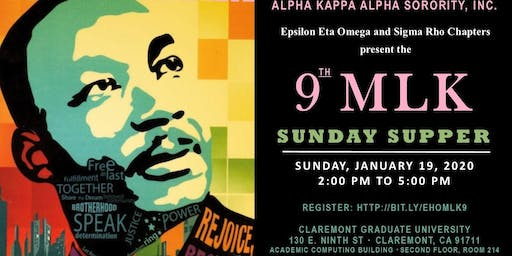 9th Annual MLK Sunday Supper*