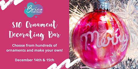 DIY Ornament Decorating Bar tickets