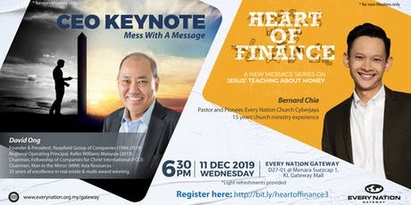 CEO Keynote: Mess With A Message & Heart of Finance tickets
