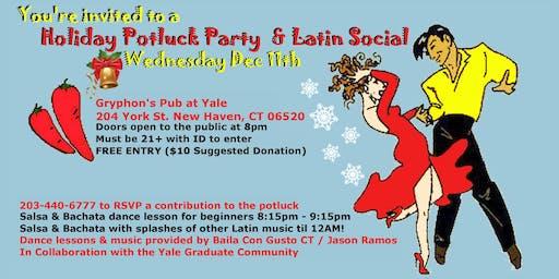 Baila Con Gusto & Yale- Holiday Potluck Party and Latin Social