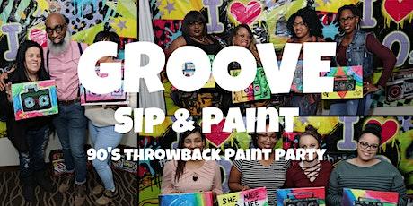 GROOVE Sip & Paint Cincinnati: 90's Throwback Paint Party- MLK Edition tickets