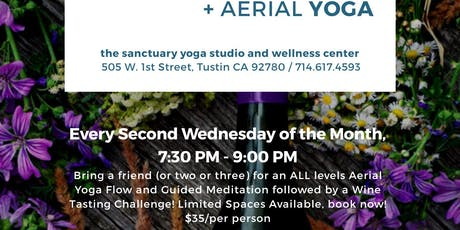Aerial Yoga With Wine tickets