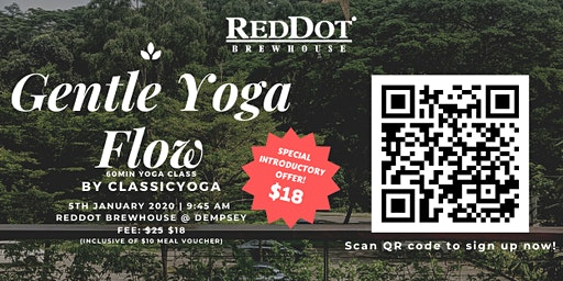 Gentle Yoga Flow  by Classic Yoga @ RedDot BrewHouse Dempsey