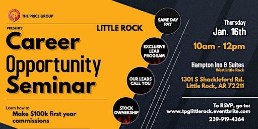 Career Opportunity Seminar - Little Rock -Jan 16th