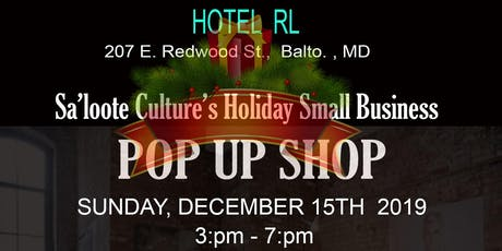 Sa'loote Culture's Holiday Small Business Pop Up tickets
