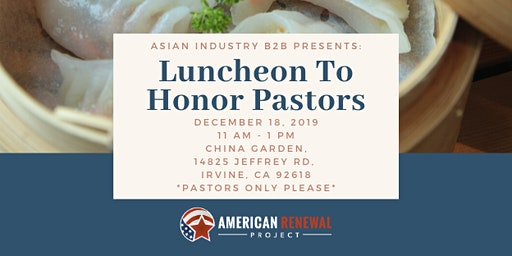 AIB2B Presents Luncheon To Honor Pastors (Pastors & Ministry Leaders Only)