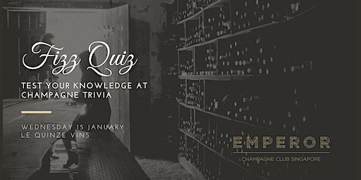 Fizz Quiz - Test your knowledge at Champagne Trivia!