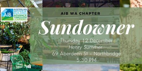 AIB WA Chapter EOY Sundowner tickets