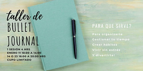 TALLER DE BULLET JOURNAL boletos