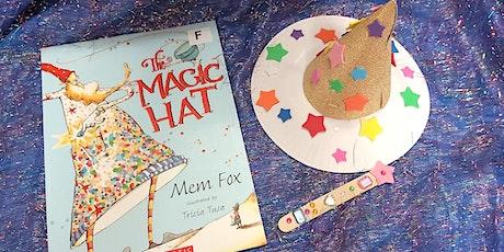 Mayor's SRC - Wizard hats & magic wand reading pointers - Hub Library tickets