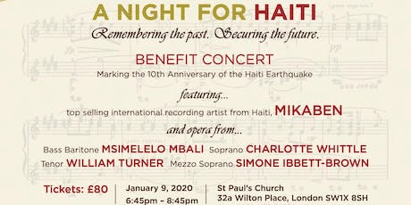 A Night For Haiti Benefit Concert tickets