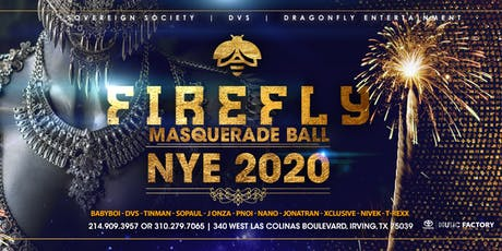 NYE 2020 MASQUERADE AT FIREFLY tickets