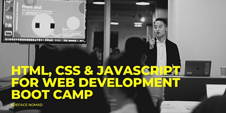 HTML, CSS & JavaScript for Web Development Boot Camp (Beginner) tickets