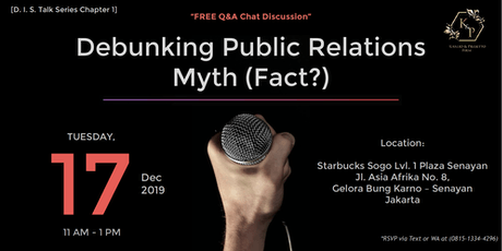 Debunking Public Relations Myth (Fact?) tickets