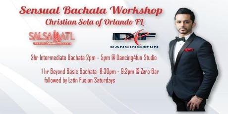 Sensual Bachata classes -Christian Sola multiple location -Event tickets