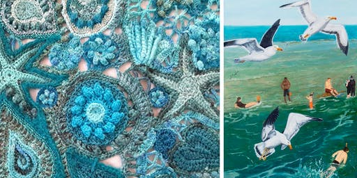 Free Artist Demonstrations: Crochet and Nature Painting