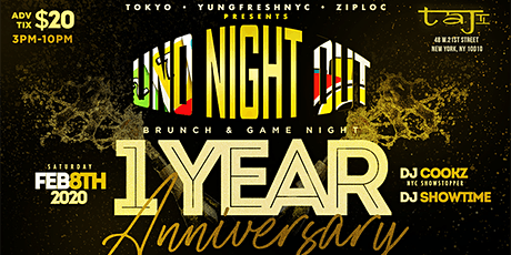 """UNO NIGHT OUT """" 1 YEAR ANNIVERSARY """" PRE VALENTINE DAY PARTY  tickets"""