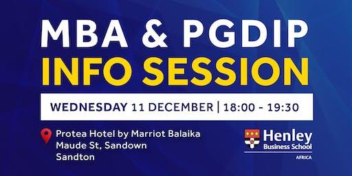 MBA & PGDip Information Session - Sandton | #Henle
