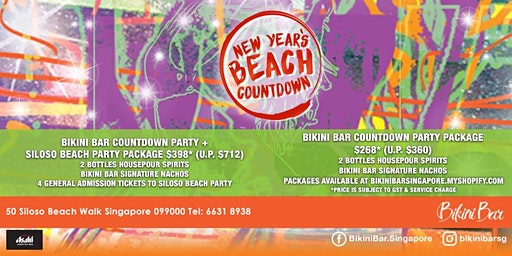 New Year's Eve Countdown Party at Bikini Bar, Sentosa