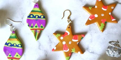 Polymer Clay Christmas Earrings Workshop tickets