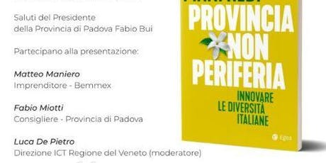 Provincia non periferia: Innovare le diversità italiane di Paolo Manfredi biglietti
