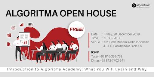 Open House Algoritma Community - Desember 2019