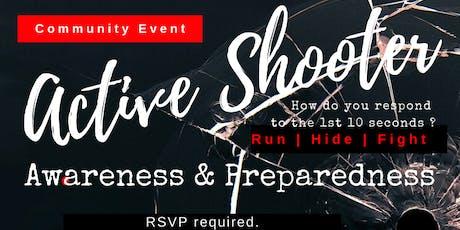 Community Seminar: Active Shooter Awareness & Preparedness tickets