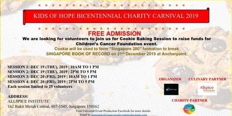 Cookie Baking for Charity tickets