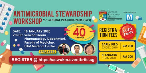 [THIS IS NOT A FREE EVENT] ANTIMICROBIAL STEWARDSHIP WORKSHOP for GENERAL PRACTITIONERS (GPs)