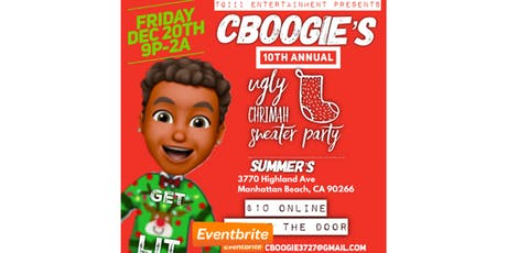 Tg3 Presents Cboogie's 10th Annual Ugly Chrimah Sweater Party tickets