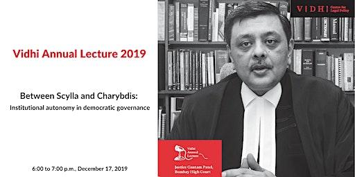 Vidhi Annual Lecture 2019 by Justice Gautam Patel