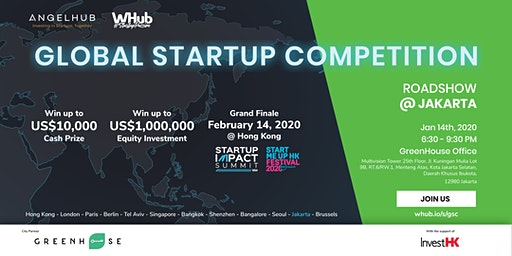 Global Startup Competition - Jakarta roadshow - AngelHub & WHub