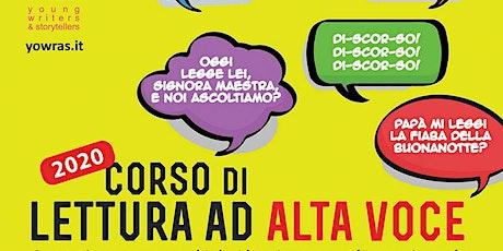 Corso di lettura ad alta voce 2020 - Pinerolo - incontro di presentazione biglietti