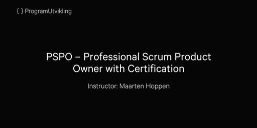 PSPO–Professional Scrum Product Owner with Certification - 20-21 Jan. 2020