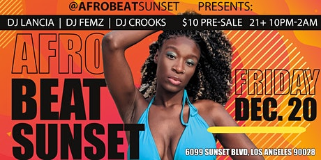 Afrobeat Sunset tickets
