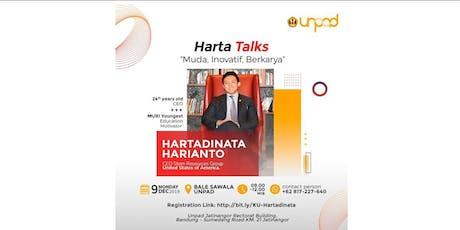 "Harta Talks: ""Leadership and Entrepreneurial Mindset"" tickets"