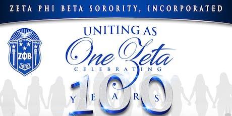 Uniting As One Zeta Celebrating 100 Years tickets